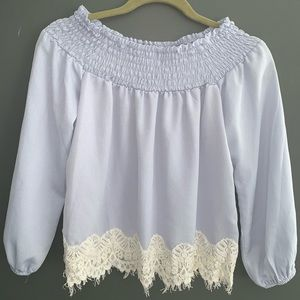 About a girl off the shoulder long sleeve size S